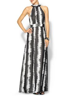 Tie Neck Maxi Dress Product Image