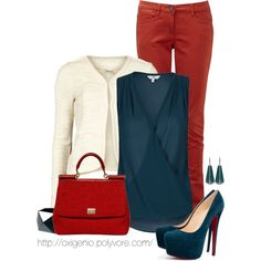 """""""red and teal"""" by oxigenio on Polyvore"""