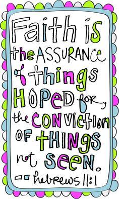 Hebrews 11: 1