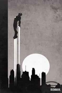 Ironman retro poster minimalist art movie poster by Harshness