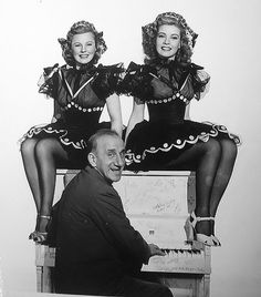 TWO GIRLS AND A SAILOR (1944) ~ June Allyson, Gloria DeHaven, with Jimmy Durante at the piano.