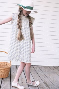 Adeline Frock from the Olive Juice SS17 Collection. Fully lined and made from fabric we found in France. This style is custom sewn in the US. See the full dress collection at www.olivejuice.com