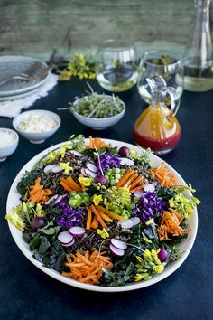 Kale Wild Rice Salad with Savory Blood Orange Vinaigrette - CaliZona