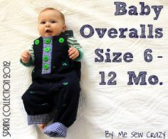 Baby overalls with pattern