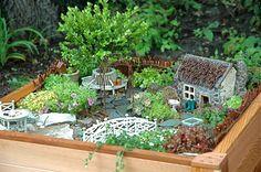 This fairy garden was created by children.    DIY wow!