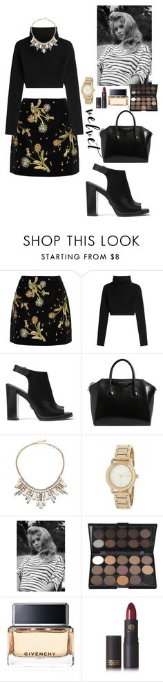 """""""JP"""" by crystlbll ❤ liked on Polyvore featuring Topshop Unique, Valentino, Michael Kors, Givenchy, ABS by Allen Schwartz, DKNY and Lipstick Queen"""