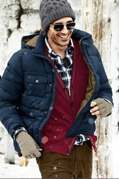 Lands' End Canvas Men's Hand Knit Aran Cable Hat and Fingerless Gloves  #landsendcanvas