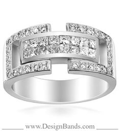 DesignBands.com :: Diamond Bands :: MENS DIAMOND BANDS :: Mens Diamond Ring Style: 4ITRING246WP