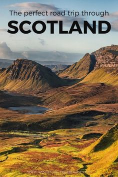 The perfect road trip through Scotland. A travel guide with a detailed itinerary starting in Glasgow and ending in Edinburgh. Click for more! http://finelinedrivingacademy.co.uk