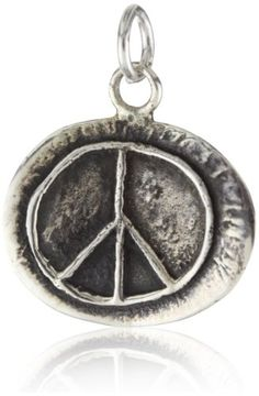 SKU Jewelry Sterling Silver Peace Sign Pendant   37.5