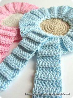 Fiocco nascita (door bows for birth) - crochet cockade - pattern
