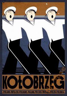 Kolobrzeg, Poland Kolobrzeg, Polska Kaja Ryszard Polish Poster