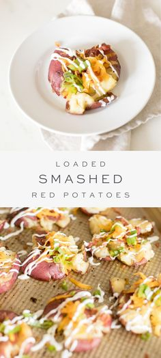 Fun Easy Recipes, Easy Appetizer Recipes, Dinner Recipes, Lunch Recipes, Delicious Recipes, Smashed Red Potatoes, Potato Side Dishes, Side Dishes Easy, Breakfast