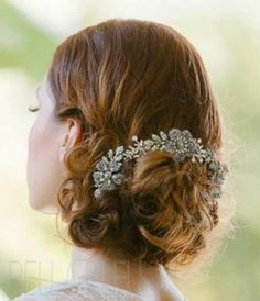 Enchanted Atelier-Flora - Bridal Combs, Pins, & Barrettes - $595.00 - Bella Bleu Bridal Couture | Bridal Jewelry | Wedding Accessories