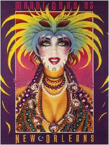 Andrea Mistretta Mardi Gras poster 1993