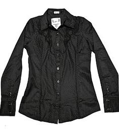 Classy black woven shirt by Roar Clothing