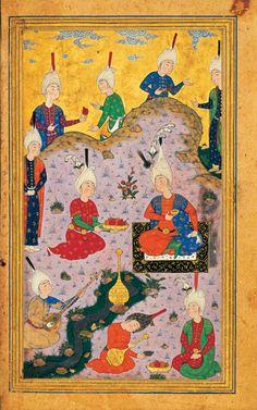 """Obras Maestras de la Miniatura Persa - tomado del libro """"Bustan"""" del poeta """"Sa'di"""" - hecho en el siglo 10 hL. (16 dC.) (11)"""