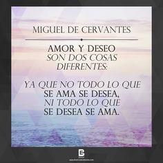 Amor y deseo Son dos cosas diferentes: Ya que no todo lo que  se ama se desea, Ni todo lo que se desea se ama. —Miguel de Cervantes —  Visítanos: http://www.elsalvadorebooks.com