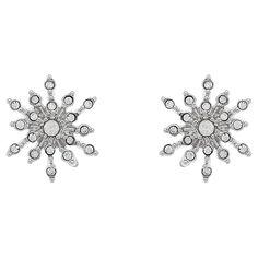 Buy Cachet Rhodium Plated Swarovski Crystal Sunburst Stud Earrings Online at johnlewis.com