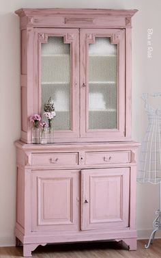 Breathe some life back into old furniture like this dresser with a splash of your favourite colour in a satinwood finish #kitchen #makeover #upcycled