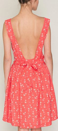 Backless anchor dress