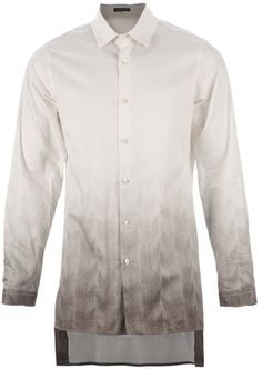 Herringbone Print Shirt - Lyst