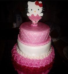 #kitty #hellokity #buttercream #pink #party #pastel #fiesta #cumple #girly #bailarina #littledancer #ballerina #bolo #tier #flores #torta #maracaibo #venezuela #fondant #reposteria by sweetcupcake_mcbo