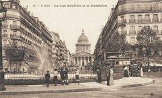 La rue Soufflot en direction du jardin du Luxembourg, vers 1900