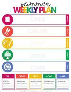 Week Schedule, Summer Schedule, Kids Schedule, School's Out For Summer, Summer Kids, Babysitter Notes, Kids Planner, Planner Ideas, Monthly Baby Photos