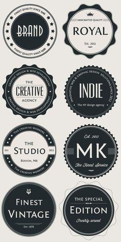 Vintage Logo Badges Set #badge #graphic #design