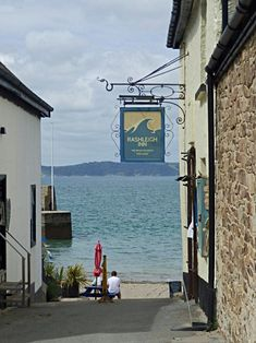 A lovely old pub and Inn on the beach at Polkerris, Cornwall - great place to visit and is on the coastal path. Old Pub, Cornwall, Great Places, Paths, Coastal, Places To Visit, Around The Worlds, Relax, England