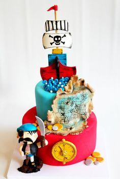 Cake Wrecks - Home - Sunday Sweets: Pirate cake Pretty Cakes, Beautiful Cakes, Amazing Cakes, Fondant Cakes, Cupcake Cakes, Cake Wrecks, Just Cakes, Cakes For Boys, Fancy Cakes