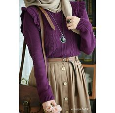 Image about cute in look by blondmonster on We Heart It Modern Hijab Fashion, Modesty Fashion, Muslim Fashion, Fashion Outfits, Hijab Style Dress, Hijab Outfit, Modest Outfits, Skirt Outfits, Modele Hijab