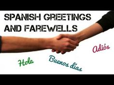 Greetings and farewells in Spanish. This video will teach you some Spanish greetings and ways to say goodbye in Spanish with simple expressions (Saludos y despedidas)