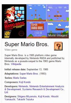 "If You Search ""Super Mario Bros."" on Google, This is What Happens"