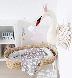 Light box - alittlelovleycompany - jellycat - rabbit - www.Petit.is - sew heart felt - swan head - Moses basket - farg & form Sweden - Babynest - kongesslojd - cloud mobile - babyroom - nursery