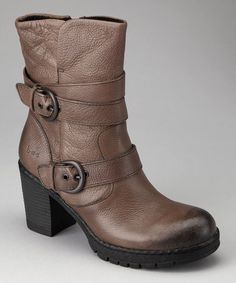 Love these!!!!!Take a look at this Gray Josephine Boot by b.o.c by Born on #zulily today!