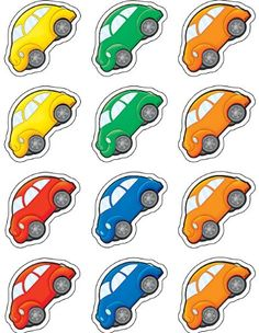 Teacher Created Resources Cars Mini Accents: Use these decorative pieces to dress up classroom walls and doors, label bins and desks, or accent bulletin boards. Learning Games, Kids Learning, Colorful Bulletin Boards, Art For Kids, Crafts For Kids, Montessori, Islamic Cartoon, Kids Background, Transportation Theme