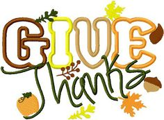 Give Thanks thanksgiving harvest by BowsAndClothesDesign on Etsy, $2.75