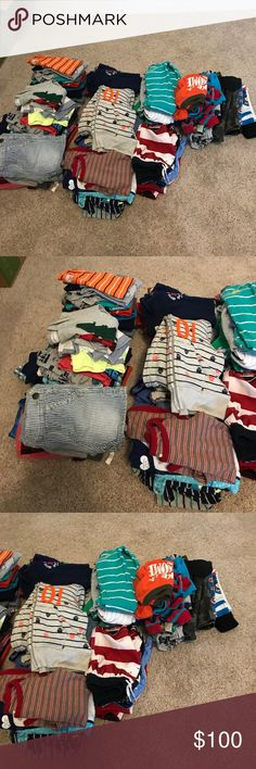 BOYS 12 MONTHS CLOTHES All good-excellent used condition. All brands (Carters, Gap, Gymboree, etc..) Lot includes; tops, bottoms, swim, sleepers and outfits! Please ask questions! Check out my other listings! This lot includes 67 items!!!! Other