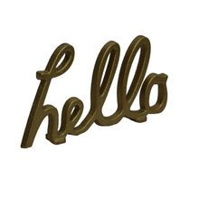 'Hello' Tabletop Decor Accent In Gold By Ashland