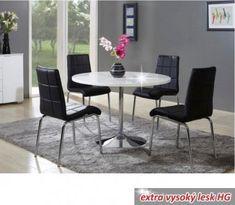 Jídelní stůl, bílá, extra vysoký lesk, PAULIN Dining Chairs, Dining Table, Outdoor Furniture Sets, Outdoor Decor, Conference Room, Home Decor, Products, House, Decoration Home