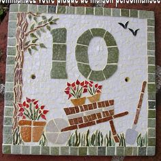 Your mosaic House plaque. I make it for you on earthenware