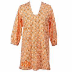 Ladies Damask Orange Tunic
