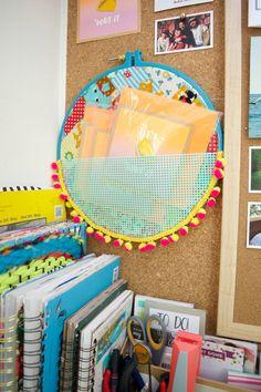 Embroidery hoop pock