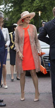 Queen Maxima and King Willem Alexander visit Friesland. 13-6-2016