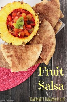 Fruit Salsa With Homemade Cinnamon Chips Recipe. Pairs great with Berry Lemonade and is great to bring to Summer potlucks! #PourMoreFun #Ad @Walmart