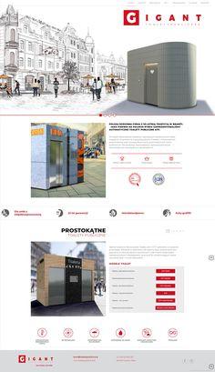 Gigant - Toalety publiczne #webdesign #toilet #toalety #publiczne #producent #www #web #architecture #city #design Psd Templates, Flyer Template, Design City, Web Design, Drupal, Creative Inspiration, Graffiti, Toilet Design, Interior Design