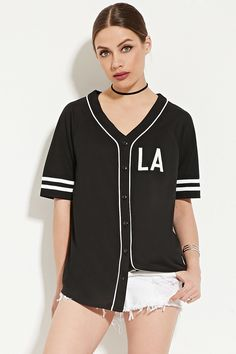 All Day Baseball Jersey | Forever 21 - 2000169217