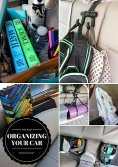 Do you need some help with organizing all the stuff in your car? These tips will change your life for the better!